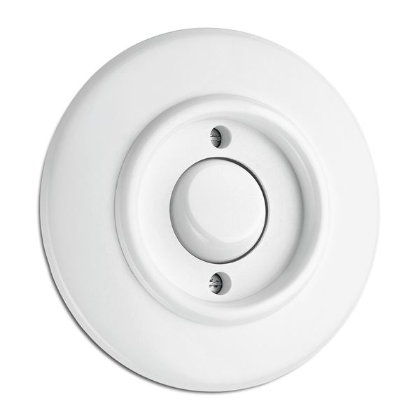 Switch round duroplast - Signal button without symbol - old style - vintage style - retro - classic interior