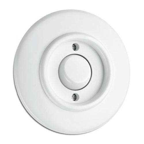 Control switch round white duroplast - toggle, 1-pole function