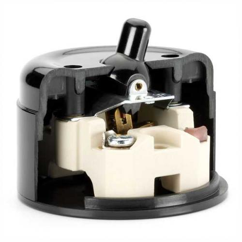 Surface mounted toggle switch alternation bakelite - old fashioned style - vintage style - classic interior - retro