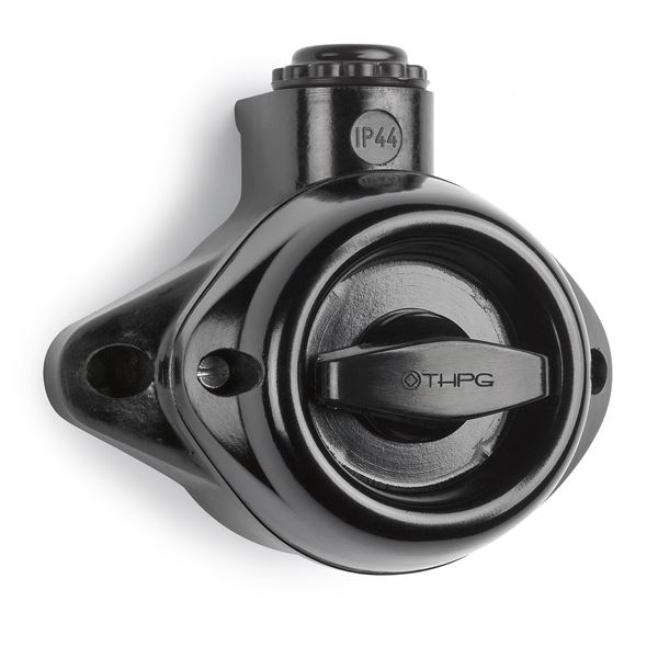 Black bakelite rotary switch - IP44 wall-mounted