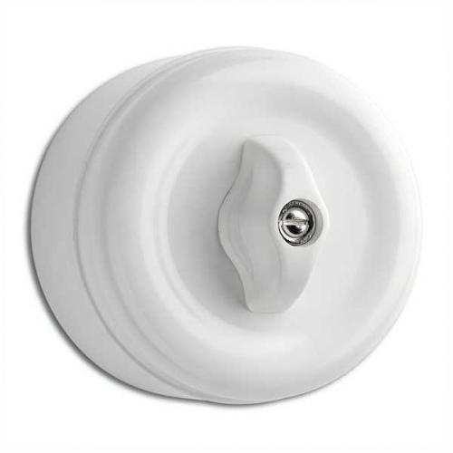 Surface mounted rotary switch alternation duroplast - old fashioned style - vintage style - classic interior - retro