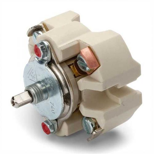 Surface mounted rotary switch multi-circuit duroplast
