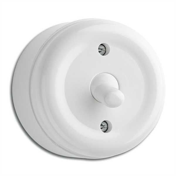 Surface mounted toggle switch crossbar duroplast - retro - old style - vintage interior - oldschool