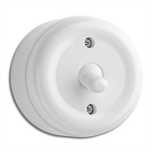 Surface mounted toggle intermediate switch duroplast