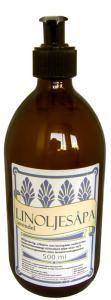 Linoljesåpa - Lavendel i glasflaska med pump - sekelskifte - gammaldags inredning - retro - klassisk stil
