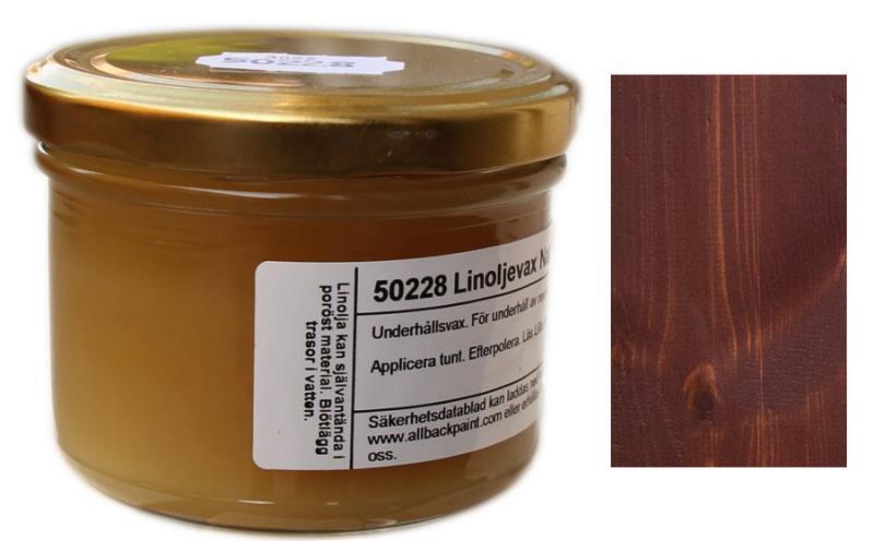 Linoljevax - Mahogny