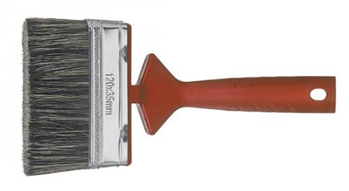 Red paint brush for handle