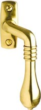 Espagnolette handle - Epok 1899 brass