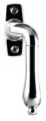 Espagnolette handle -  straight bent nickel