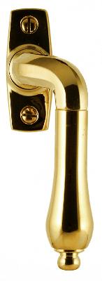 Espagnolette handle - Drop bent brass