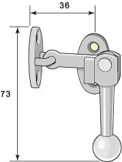 Measures old style Window Lock - Næsman 799 nickel