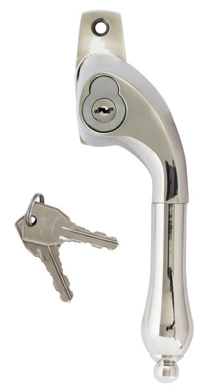 Lockable espagnolette handle - Drop nickel