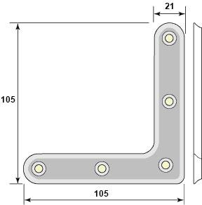 Hörnjärn fönster - Förzinkat stål 102 mm