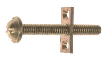 Inner window screw brass - Næsman nr 197