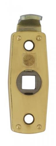 Safety handle latch 1374 - Brass - for espagnolette handles - old style - vintage style - classic interior - retro