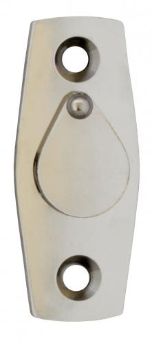 Cover plate for window handles - WIth clapper, nickel