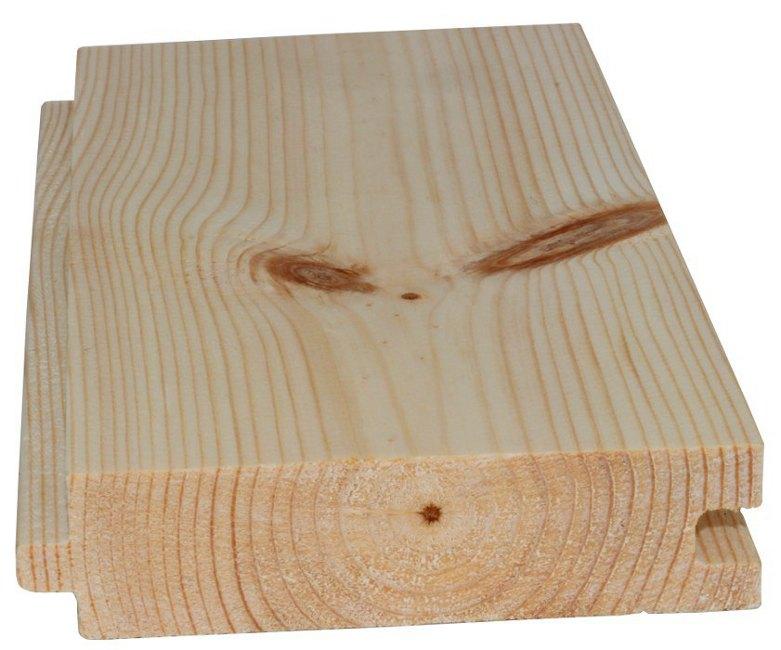 Pine floor - 28/100 mm, 8 %
