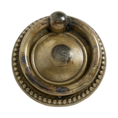 Furniture fitting - Antique brass round