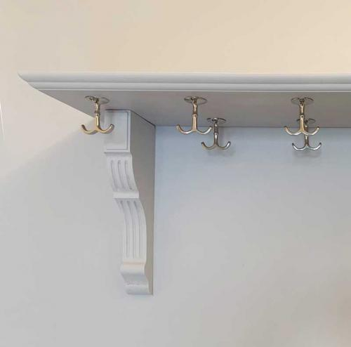 Hat rack hook - Anchor hook nickel