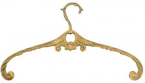 Ornamented hanger in polished brass - old style - vintage interior - old fashioned style - classic interior