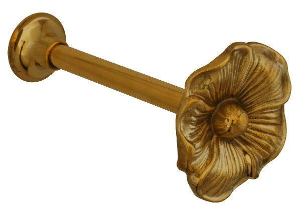 Curtain Hook - Flower brass