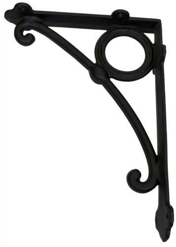Shelf bracket - Art Nouveau large black - old style - vintage style - classic interior - retro