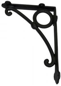 Shelf bracket - Art Nouveau large black