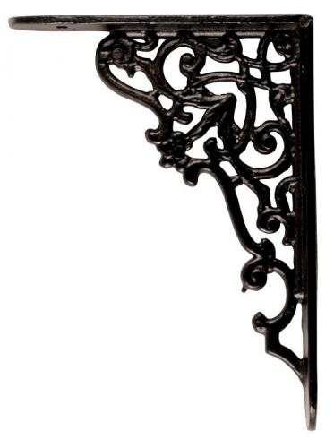 Shelf bracket - Ornament small, black