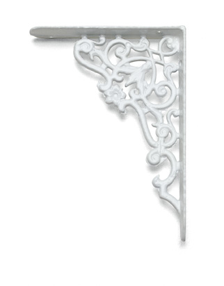 Shelf bracket - Ornament small, white
