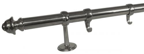 Kitchen railing with hooks - Nickel 1m