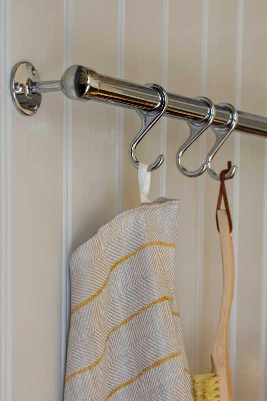 Classic chromed tube - 100 cm - Create your own kitchen rail or towel rack