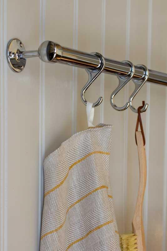 Klassiskt kromat rör - 100 cm - Skapa din egen köksreling eller handduksstång.