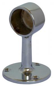 Rörhållare Krom - Rörfäste till kromat mässingsrör 25 mm - Sekelskifte