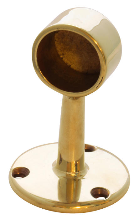 Rörhållare Mässing - Rörfäste 25 mm - sekelskiftesstil - gammaldags stil - retro - gammal inredningsstil