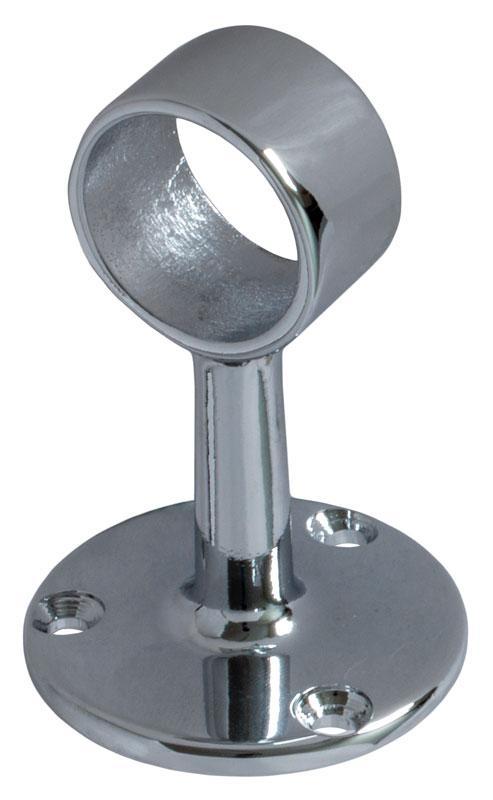 Tube holder chrome - 25 mm, connection