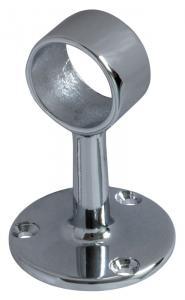 Rörhållare till krom rör - Rörfäste 25 mm, genomgående - Sekelskifte