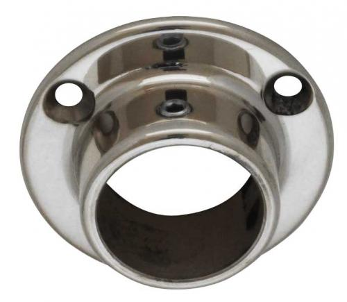 Tube holder chrome 25 mm - Wall mount