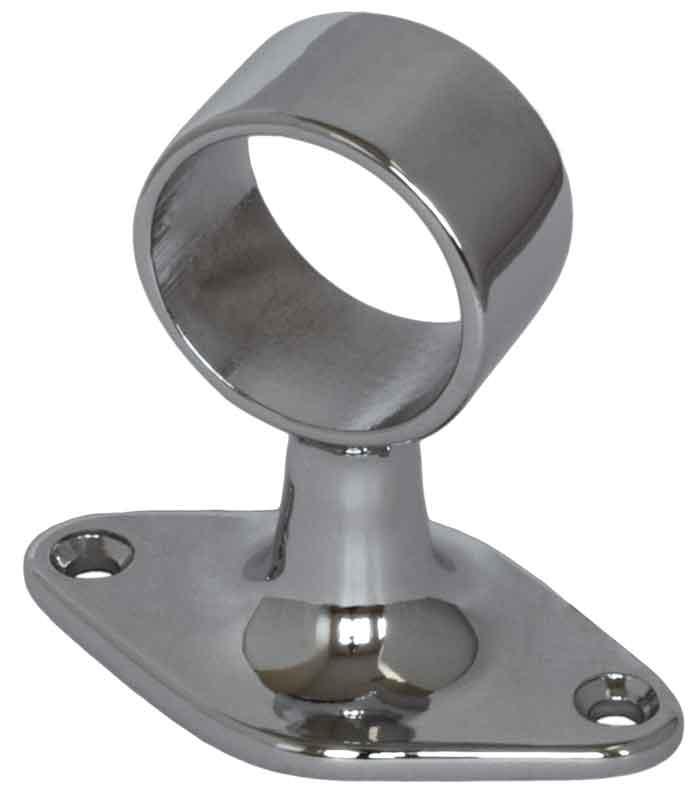 Fräscha Genomgående rörhållare i krom för 25 mm rör - Sekelskifte QD-66