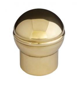 Ändknopp till rör 25 mm - Mässing