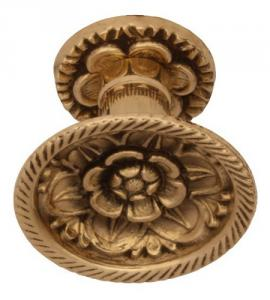 Knob - Flower brass - old style - old fashioned