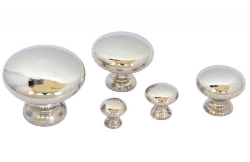 Knopp - Sekelskifte nickel - sekelskiftesstil - gammaldags inredning - klassisk stil - retro
