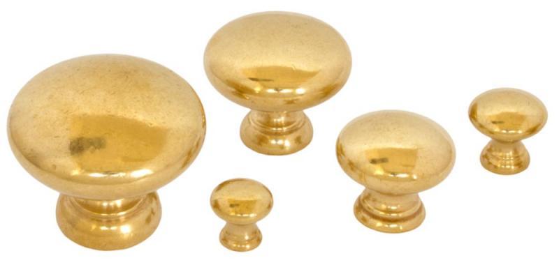 Knob - Sekelskifte brass