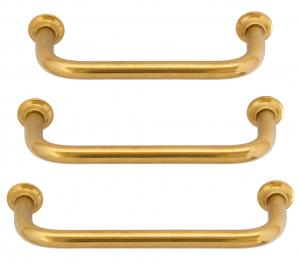Ålsten - old style handle in three sizes untreated brass.