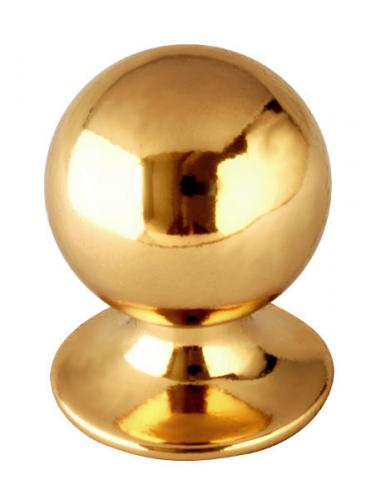 Knob - Round 33 mm brass