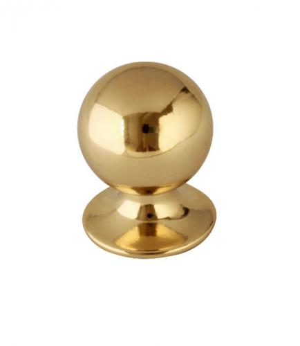 Knob - Round 25 mm brass