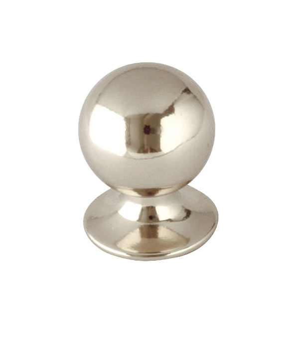 Knob - Round 25 mm nickel