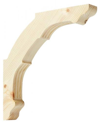 Shelf Bracket D2 wood - Large