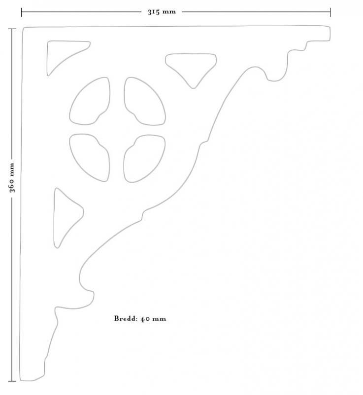 Träkonsol - Fyllning/konsol snickarglädje liten - sekelskiftesstil - gammaldags inredning - klassisk stil - retro