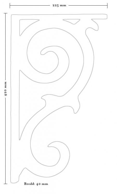 Träkonsol - Fyllning/konsol snickarglädje 2 liten - sekelskiftesstil - gammaldags inredning - klassisk stil - retro