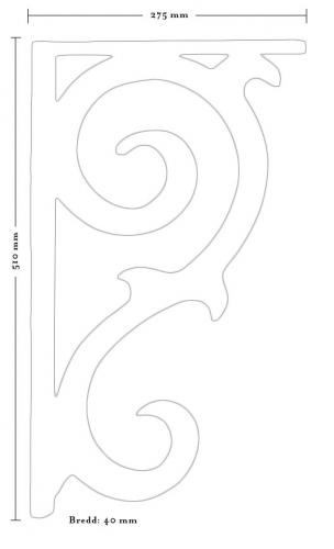Träkonsol - Fyllning/konsol snickarglädje 2 stor - sekelskiftesstil - gammaldags inredning - klassisk stil - retro